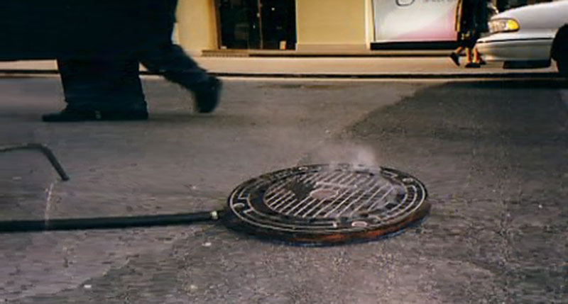 Steaming Sewer Covers